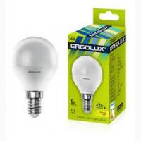 Лампа светодиодная Ergolux E14 45Вт (=5Вт) 4500К (белый свет)