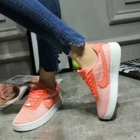 Кроссовки женские Nike Air Force 1 Flyknit Orange