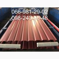 Профлист терракотового цвета РАЛ 8004, Профнастил8004, Металлопрофиль терракотового цвета