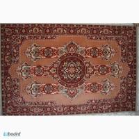 Шерстяной ковер бордо-бежевого цвета с цветочным орнаментом. Размеры: 2х3 м
