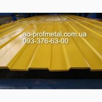 Профнастил для забора желтого цвета РАЛ 1003, Желтый профнастил от завода, Профлист желтый