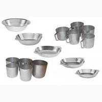 Алюминиевые тарелки, кружки и стаканы