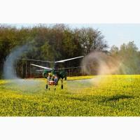 Фунгіцидна обробка ріпаку вертольотом