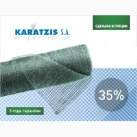 Затеняющая сетка Karatzis зеленая (2х50) 35%