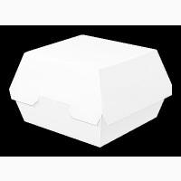 Упаковка для Гамбургера БЕЛАЯ (117х106х70, 1уп/25шт, 1ящ/400шт)
