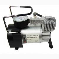 Миникомпрессор автомобильный 12В, 11бар, 40л/мин, набор адаптеров (3шт)