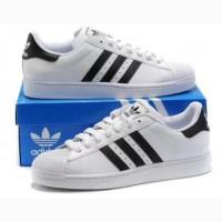 Кроссовки Adidas SuperStar женские белые, черные
