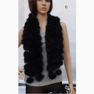 Меховые шарфы из кролика. Зимние шарфы из меха