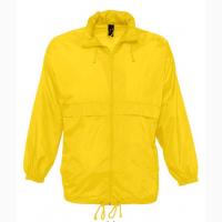 Ветровка унисекс желтая непромокаемая SOL'S SURF под заказ