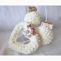 Свадебная подушечка для обручальных колец сердце розы айвори золото эксклюзив Украина