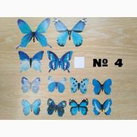 Бабочки 4 декор на обои, зеркала, холодильник