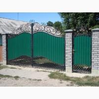 Ворота с профлиста, ворота с калиткой, Кривой Рог