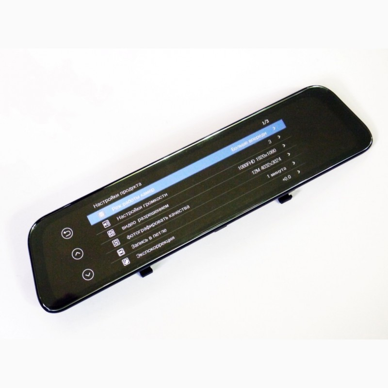 Фото 7. DVR L1028 Full HD Зеркало с видео регистратором с камерой заднего вида.11 Сенсорный экран