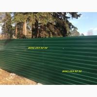 Зеленый профнастил RAL 6005. Металлопрофиль зеленого цвета, Ограждение из проф листа