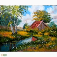 Картина Лесной пейзаж холст, масло, 40х50 см