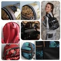 Рюкзаки с пайетками двусторонними - меняет цвет!!! 26см рюкзачок пайетки перевертыш