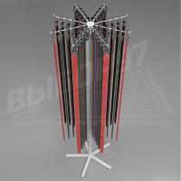 Стойка для ремней галстуков на 8 лучей