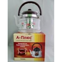 Стеклянный чайник-заварник А-Плюс TK-1047 1, 6 литра