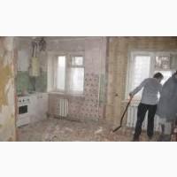 Демонтаж стен, пола, штукатурки, плитки, Вывоз строймусора, хлама