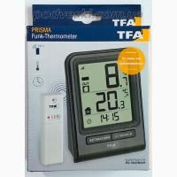 Цифровой термометр для комнаты и улицы с радиодатчиком TFA Prisma