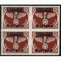 Германия Курляндия 1945 г. 4 кварт блок