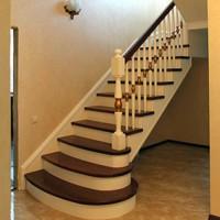 Заказать лестницу, изготовление, сварка и обшивка деревом