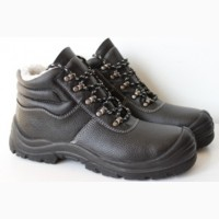 Ботинки кожаные на ПУ подошве с метподноском Strong Warmer