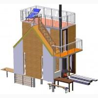 Швидко споруджуєма (быстровозводимая) будівля зборнорозборна секційного типу.Модульний дім