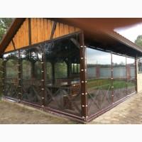 Мягкие окна, шторы ПВХ для беседок из прозрачной ПВХ пленки