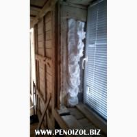 Утепление пеноизолом