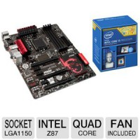 Игровой комплект Intel core i5 4670k + MSI Z87 g45 gaming + 16gb ram