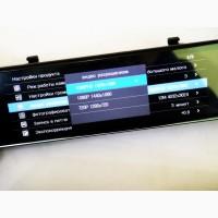 DVR L203 12 зеркало с двумя камерами 1080P full screen