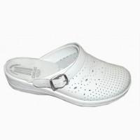 Обувь медицинская - белые сабо кожаные женские Код: 51-07-03
