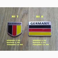 Наклейки на авто Флаг Германии алюминиевые на авто-мото