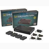 Усилитель-распределитель HDMI 1 на 4 с приемниками в комплекте, до 50 м