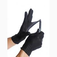 Перчатки нитриловые неопудренные чёрные, NITRYLEX, 100 шт. в упаковке