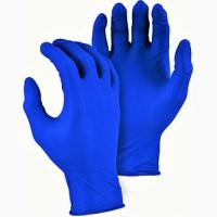 Перчатки нитриловые неопудренные синие NITRYLEX, 100 шт в упаковке